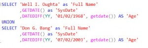T-SQL DateDiff for Age