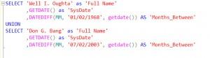 T-SQL Months Between