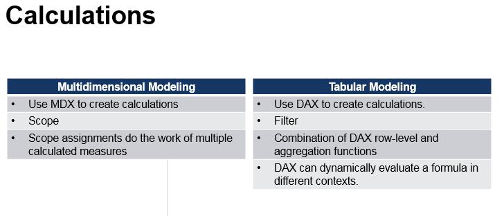 SSAS Tabular vs  SSAS Multidimensional – Which One Do I